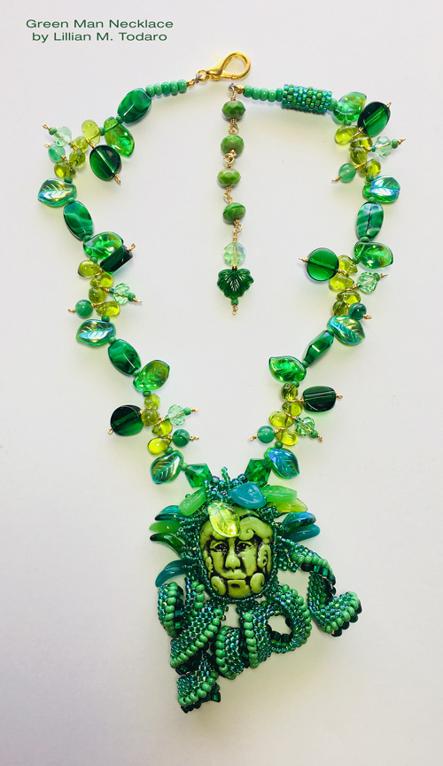 Green Man Necklace by Lillian M. Todaro